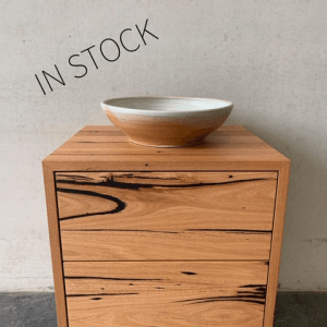 | Wall Hung Timber Bathroom Vanity | Reclaimed Australian Hardwood Timber | Natural Oil & Wax Finish | 2 x Push to Open Soft Close Drawers | Length 600mm x Width 500mm x Height 550mm | $1,430 | IN STOCK & AVAILABLE TO PURCHASE NOW |
