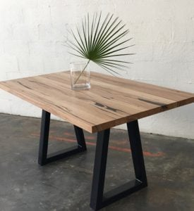 | Sienna Dining Table | Reclaimed Australian Hardwood Timber | Natural Oil & Wax Finish | Steel Legs - Black | Length 1800mm x Width 900mm x Height 750mm | Timber Thickness 40mm approx | $2,263 |