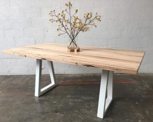 | Sienna Dining Table | Reclaimed Australian Hardwood Timber | Natural Oil & Wax Finish | Steel Legs - White | Length  1800mm x 900mm x Height 750mm | Timber Thickness 40mm approx | $2,263 |