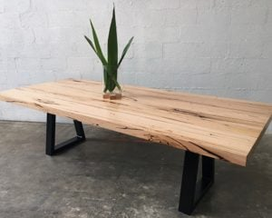 | Sienna Dining Table | Reclaimed Australian Hardwood Timber | Natural Oil & Wax Finish | Steel Legs - Black | Length 2600mm x Width 1100mm x Height 750mm |Timber Thickness 60mm approx | POA |