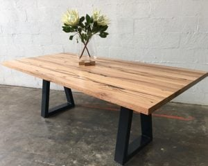 | Sienna Dining Table | Reclaimed Australian Hardwood Timber | Natural Oil  & Wax Finish | Steel Legs - Black | Length 2100mm x Width 1000mm x Height 750mm | Timber Thickness 40mm approx | $2,783 |