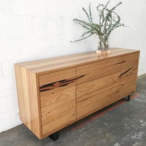 | Pittsburgh Buffet | Reclaimed Australian Hardwood Timber | Natural Oil & Wax Finish | Steel Legs | 2 x Push to Open Doors | 3 x Push to Open Drawers | Length 1700mm x Width 450mm x Height 750mm | $3,570 |
