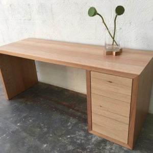 | Eyre Desk | Victorian Ash Timber | Natural Oil & Wax Finish | 3 x Push to Open Drawers | Length 1800mm x Width 550mm x Height 750mm | $3,086 |