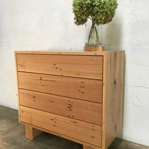 | Aspen Chest of Drawers | Reclaimed Australian Hardwood Timber | Natural Oil Finish | 4 x Push to Open Drawers | POA |
