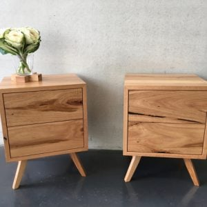 | Monterey Bedside Tables | Reclaimed Australian Hardwood Timber | Natural Oil & Wax Finish | 2 x Push to Open Drawers | Length 500mm x Width 420mm x Height 650mm | $1,089 each |