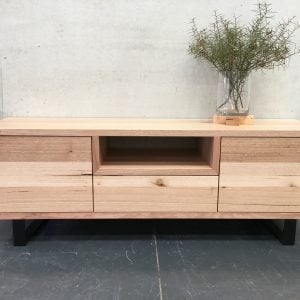 | Pittsburgh Entertainment Unit | Tasmanian Oak Timber | Natural Oil Finish | 2 x Push to Open Doors | 1 x Push to Open Drawer | 1 x Open Section | Steel Legs | Length 1500mm x Width 450mm x Height 500mm | $ 2,057 | IN STOCK & AVAILABLE TO PURCHASE |