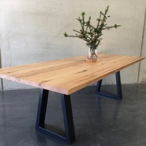 | Sienna Dining Table | Reclaimed Australian Hardwood Timber | Natural Oil & Wax Finish | Steel Legs - Black | Length 2500mm x Width 1000mm x Height 750mm | Timber Thickness 40mm approx | $3,267 |