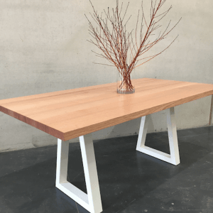 | Sienna Dining Table | Victorian Ash Timber | Natural Oil & Wax Finish | Steel Leg - White | Length 1800mm x Width 950mm x Height 750mm | $2,336 |