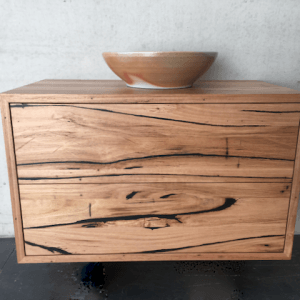 | Wall Hung Bathroom Vanity | Reclaimed Australian Hardwood Timber | Natural Oil & Wax Finish | 2 x Push to Open Drawers | Length 900mm x Width 500mm x Height 550mm | $1,705 |