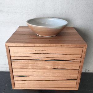 | Wall Hung Bathroom Vanity | Reclaimed Australian Hardwood Timber | Natural Oil & Wax Finish | 2 x Push to Open Drawers | Length 650mm x Width 500mm x Height 500mm | $1,430 |