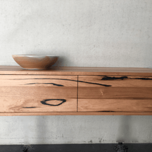 | Wall Hung Bathroom Vanity | Reclaimed Australian Hardwood Timber | Natural Oil & Wax Finish | 2 x Push to Opend Drawers | Length 1500mm x Width 450mm x Height 350mm | $1,980 |
