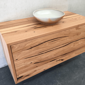 | Wall Hung Bathroom Vanity | Reclaimed Australian Hardwood Timber | Natural Oil & Wax Finish | 2 x Push to Open Drawer | Length 1200mm x Width 550mm x Height 550mm | $2,090 |
