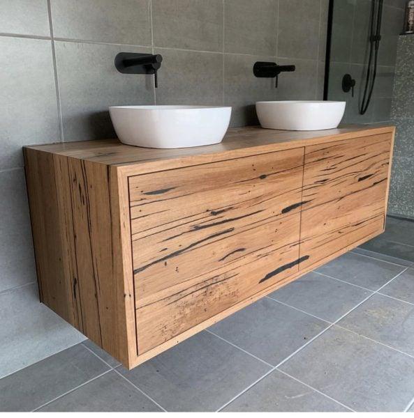 Bathroom Vanities Re Sawn, Hardwood Bathroom Vanity